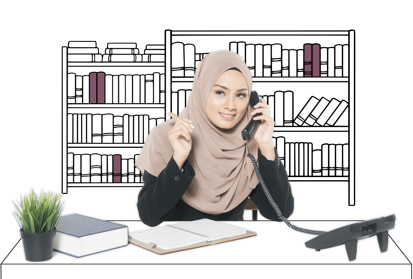 recruitment agent insurance illustration of agent conducting business on phone