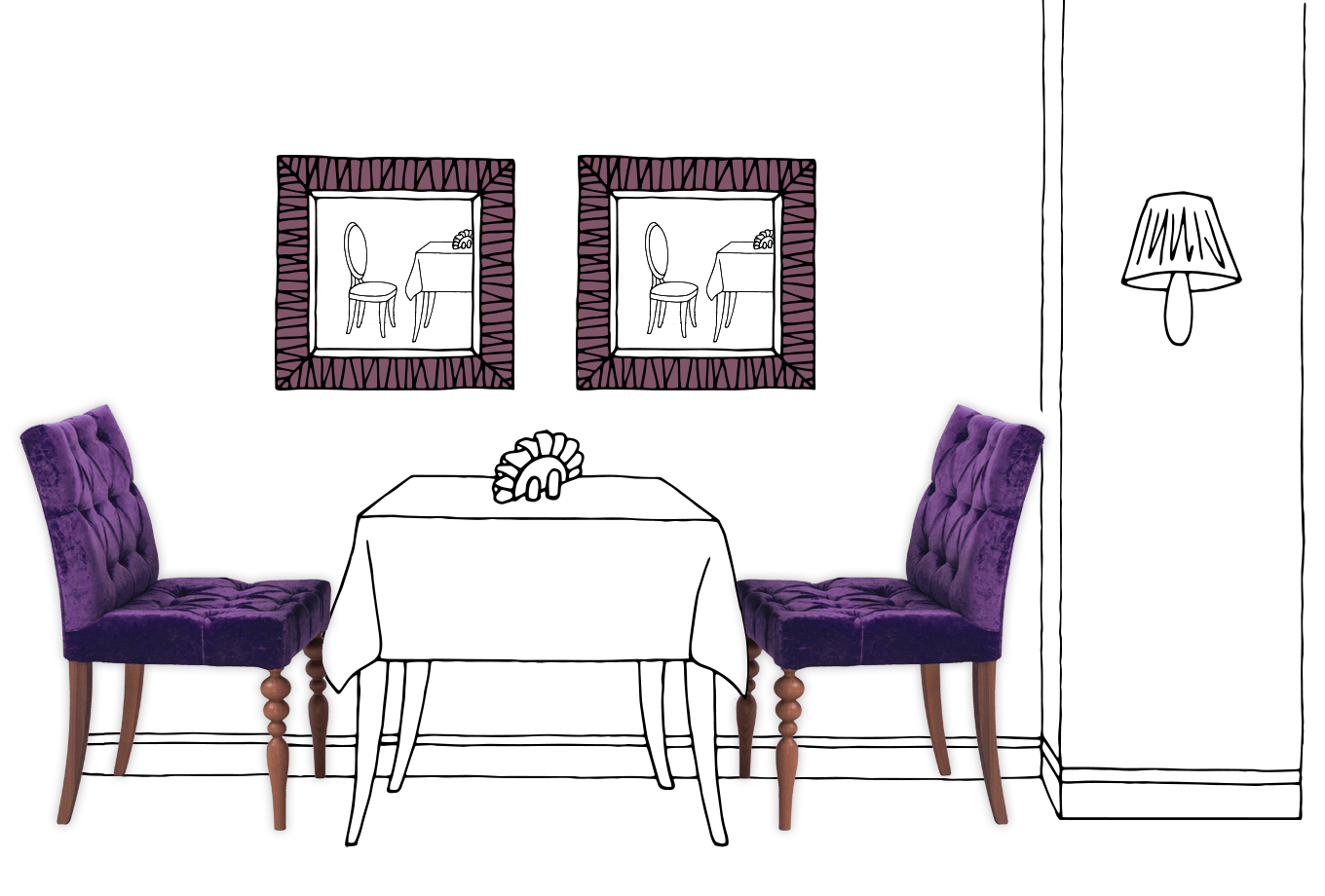 restaurant and café insurance illustration of table and chairs