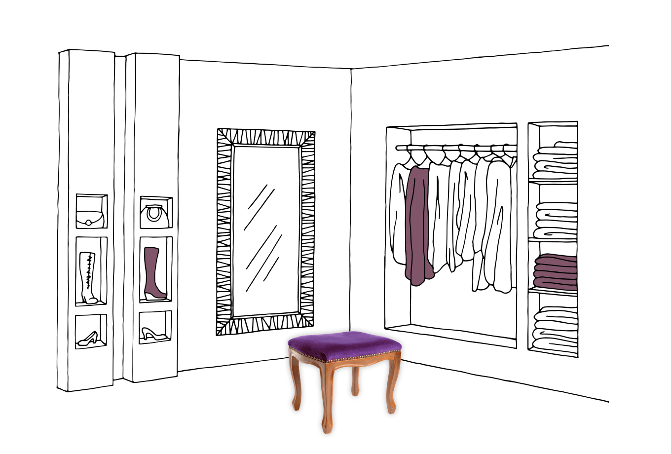 commercial shop owner insurance illustration of clothes shop changing room