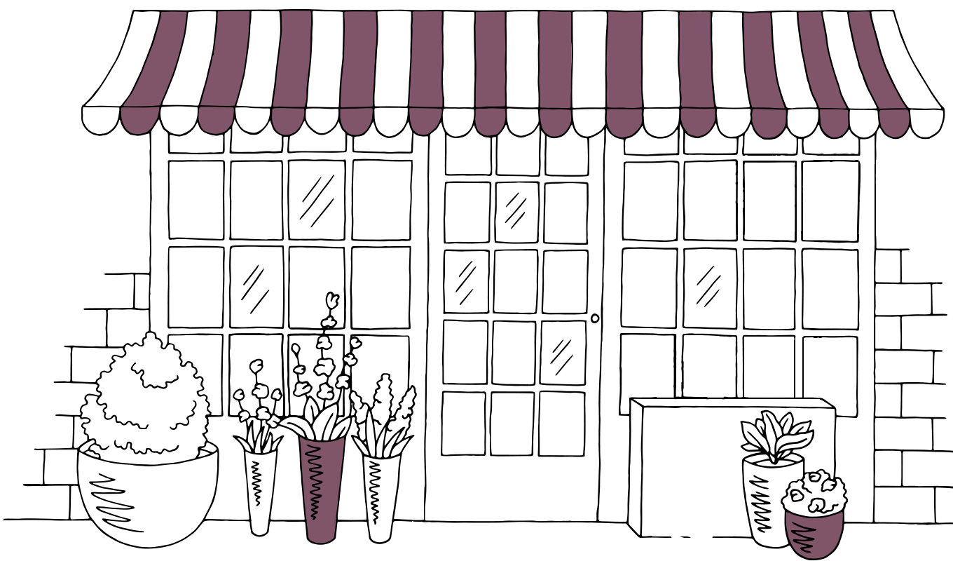 shop insurance illustration of traditional shop front