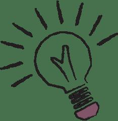 advertising agent illustration of light bulb
