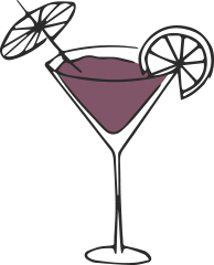bar insurance illustration of martini glass with cocktail