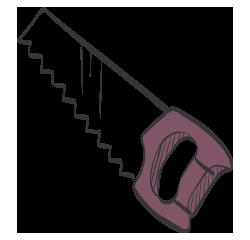 carpenter insurance illustration of hand saw