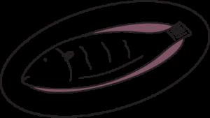 fishmonger insurance illustration of fish served on plate