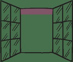 glazing shop insurance illustration of open window