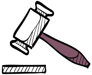 legal services insurance illustration of gavel
