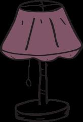 lighting insurance illustration of table lamp