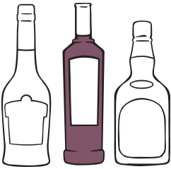 off-licence insurance illustration of alcohol wine and spirits