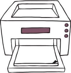 printing shop insurance illustration of printer