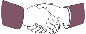 business portfolio landlord insurance illustration of two shaking hands