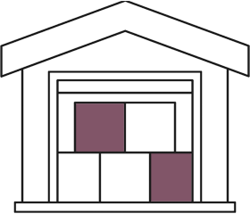 warehouse storage insurance illustration of building containing boxes
