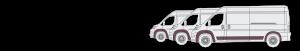 windscreen cover illustration of three vans