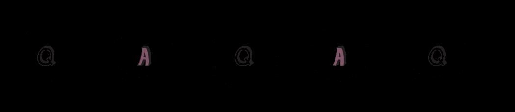 FAQ illustration of letters in speech bubbles