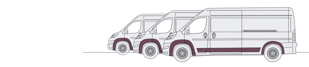 mirrored no claims bonus discount illustration of three vans
