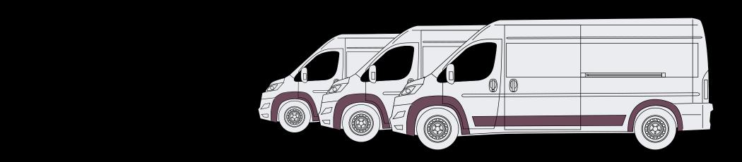 trailer insurance illustration of three vans